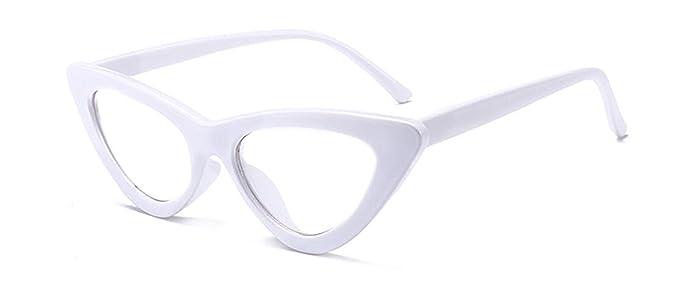 e3d38e29b116 Image Unavailable. Image not available for. Color: nboba cute sexy retro  cat eye sunglasses women small black white 2018 triangle cheap ...