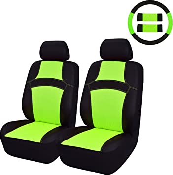 For Chevrolet New Semi Custom Frog Logo Car Seat Covers w Steering Wheel Cover