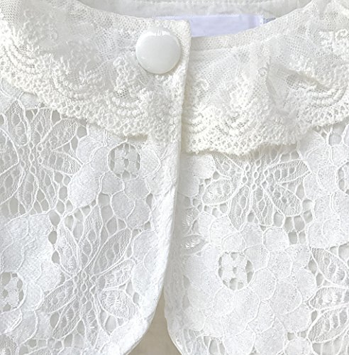 Ourlove Fashion Girls' Long Sleeve Open Front Lace Bolero Shrug Cardigan Top (White, 6-7 Years) by Ourlove Fashion (Image #3)