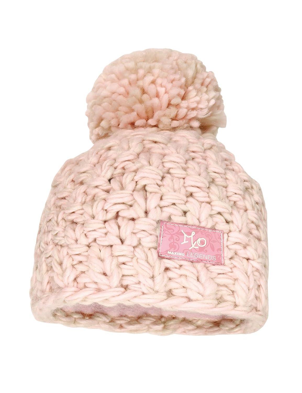 maximo Mädchen Mütze Grobstrick, mit Pompon