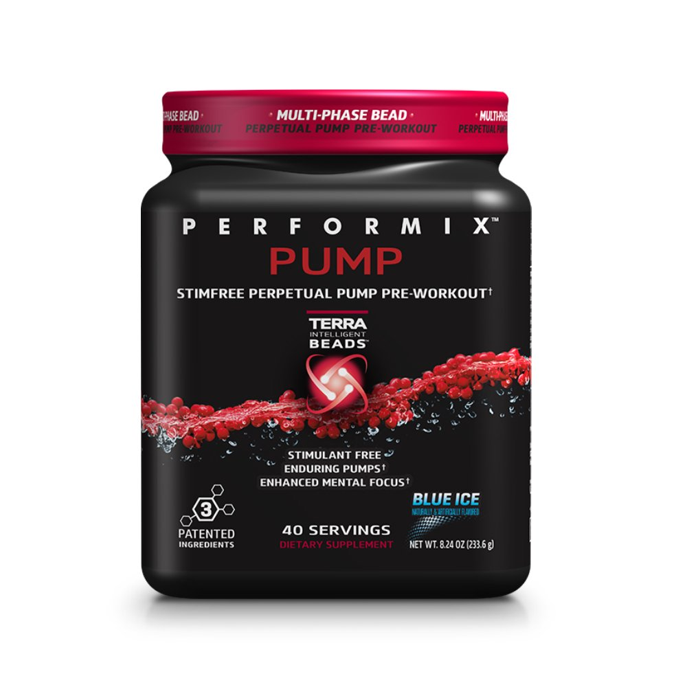 PERFORMIX PUMP Stimfree Perpetual Pump PreWorkout - Stimulant Free, Enduring Muscle Pump, 40 Servings, Blue Ice by PERFORMIX