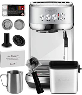 Breville BES500BSS Bambino Plus Espresso Machine Brushed Stainless Steel + Manufacturers Warranty + Knock Box Mini