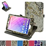 "Acer Iconia One 8 B1-820 /Tab 8 A1-860 Rotating Case,Mama Mouth 360 Degree Rotary Stand With Cute Lovely Pattern Cover For 8"" Acer Iconia One 8 B1-820 / A1-860-19LU Tablet,Map White"