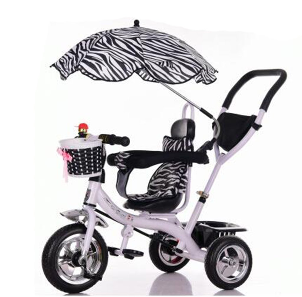 KANGR-子ども用自転車 三輪車のベビーキャリッジバイク子供のおもちゃのトロリーインフレータブルホイール自転車3ホイール、回転可能な座席(ボーイ/ガール、1-3-5歳) B07BTWWMTP