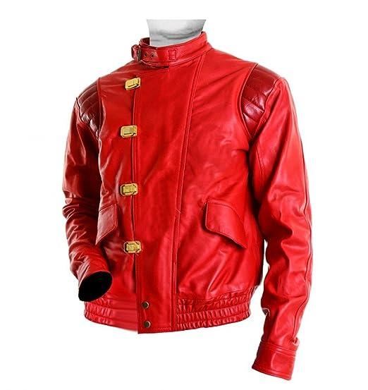 094e35e3d7 Men s Akira Kaneda Capsule Red Leather Jacket at Amazon Men s ...