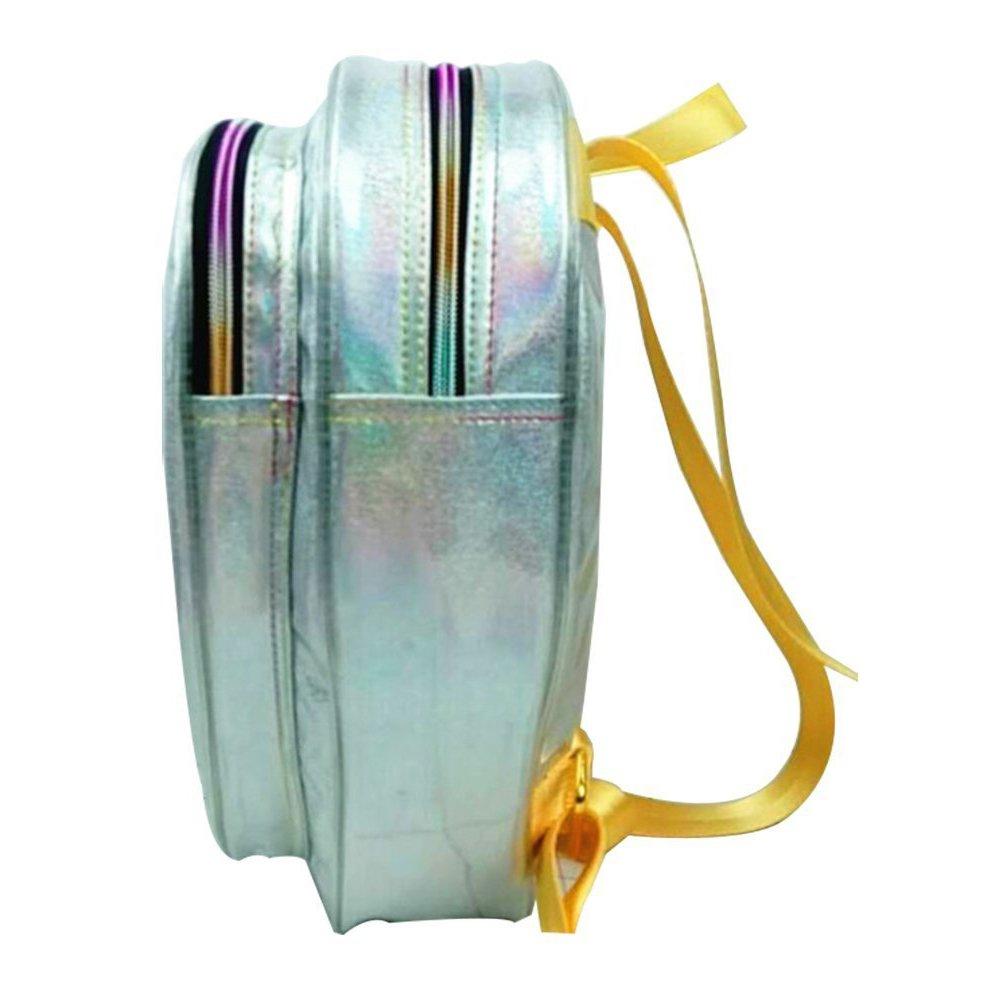 Zerlar Alien Type Women s PVC Hologram Backpack Casual Travel Bag Shoulder Bag