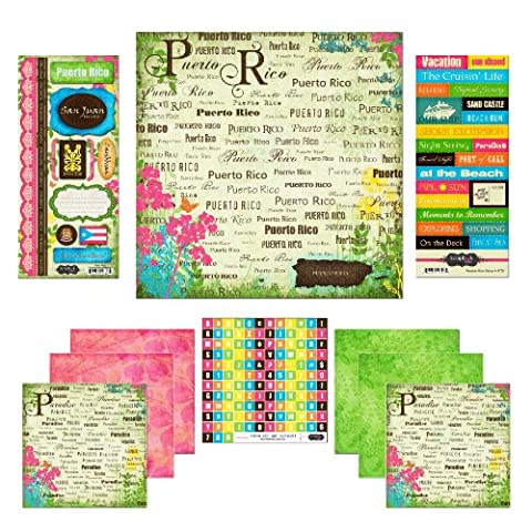 Scrapbook Customs Themed Paper and Stickers Scrapbook Kit, Puerto Rico Paradise - Puerto Rico Kitchen