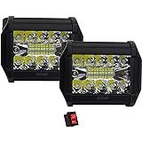 2 piezas de faros LED con potente luz concentrada de alta Intensidad de 57w con 19 led y función estrobo, ideal para motos, m