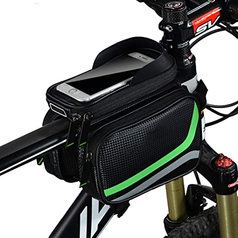 Outdoor Cycling Bike Bag Frame Pannier Front Top Tube Bag Double Pouch Holder