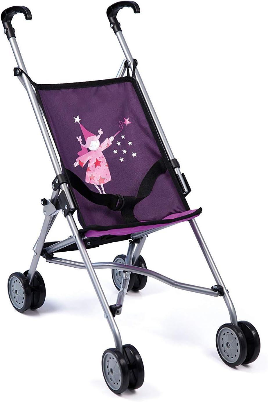 30112AA - Bayer Design - Sillita de Paseo para muñecas con cinturón de Seguridad, púrpura con hada