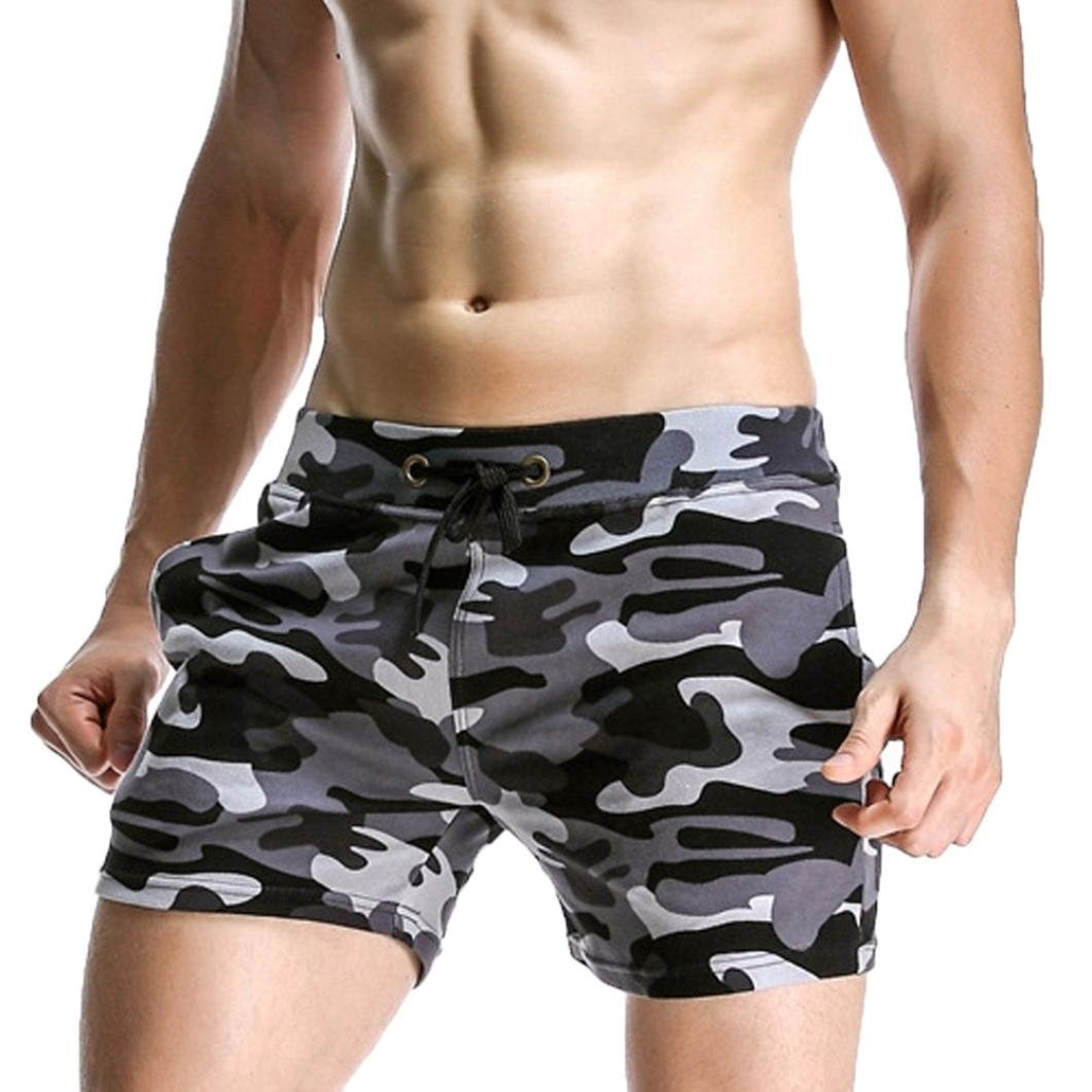Mikkar Men Sport Pants Beach Shorts Elastic Camouflage Harem Training Joggers Sale
