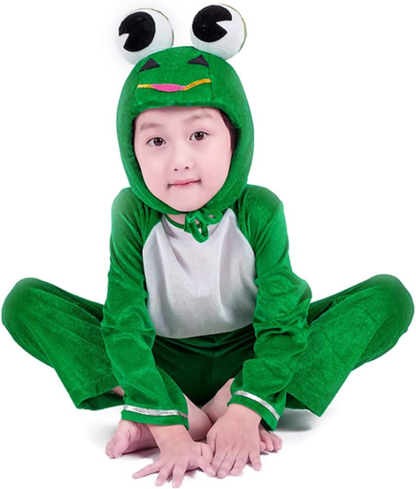 Kids Frog Costumes Animal Cosplay Fancy Dress Outfit for Halloween Christmas Party