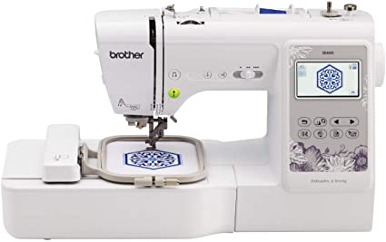 Amazon Com Brother Se600 Sewing And Embroidery Machine 80 Designs 103 Built In Stitches Computerized 4 X 4 Hoop Area 3 2 Lcd Touchscreen Display 7 Included Feet