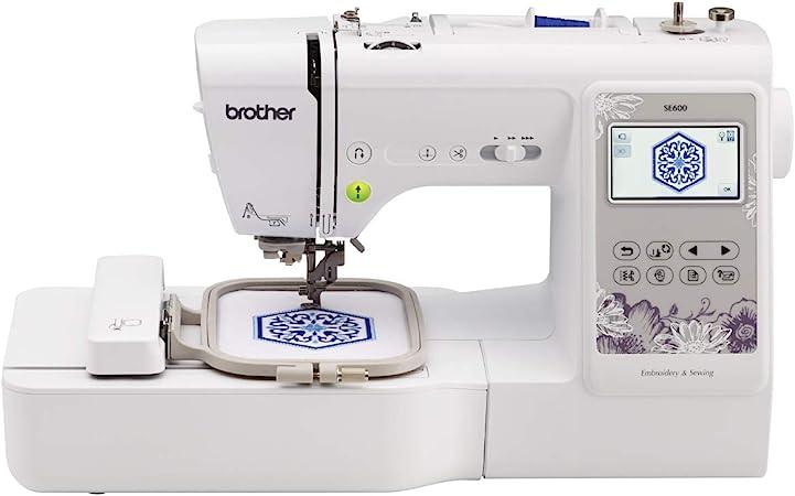 Brother SE600 - Máquina de coser (Blanco, Máquina de coser automática, Costura, 1 paso, 5 mm, 710 RPM): Amazon.es: Hogar