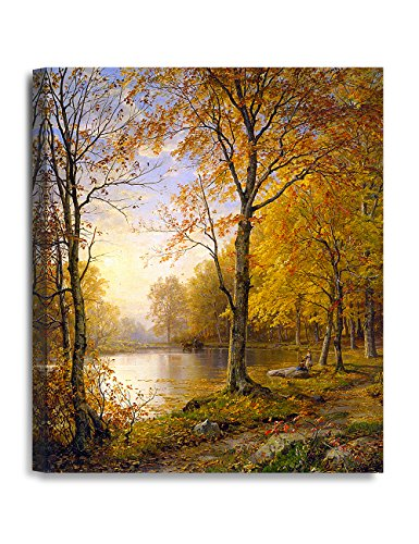 DecorArts - 'Indian Summer', William Trost Richards; Art Reproduction. Giclee Canvas Prints Wall Art for Home Decor 24x20""