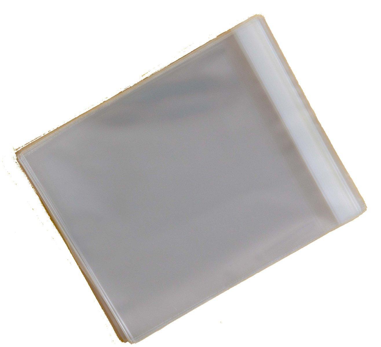 rabat de 30/mm 30/microns Celloexpress Lot de 100 pochettes carr/ées en cellophane pour cartes de v/œux Rabat autocollant 160 x 155/mm