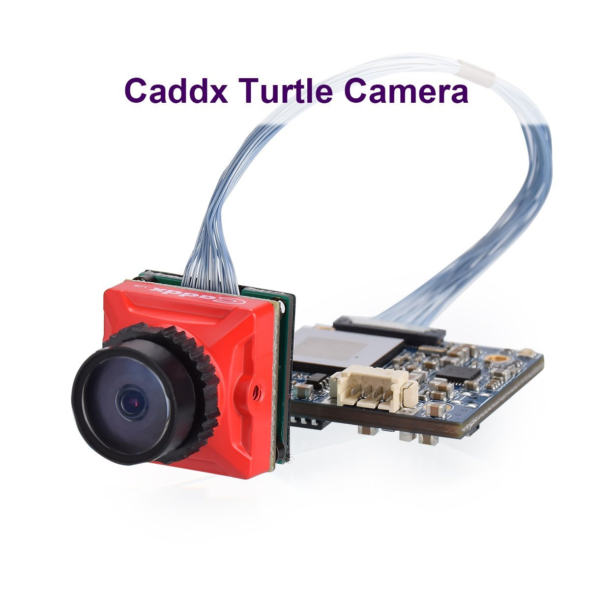 Caddx FPV Camera Turtle Micro Mini Cam CMOS 1080P 60fps HD Recording FOV 170° with WDR OSD Low Latency Red for Tiny Whoop Racing Drone by Caddx