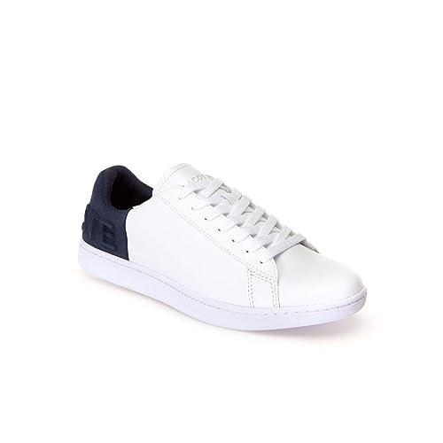 Lacoste - Zapatillas de Piel para Mujer Blanco y Azul Marino, Color, Talla 41 EU: Amazon.es: Zapatos y complementos