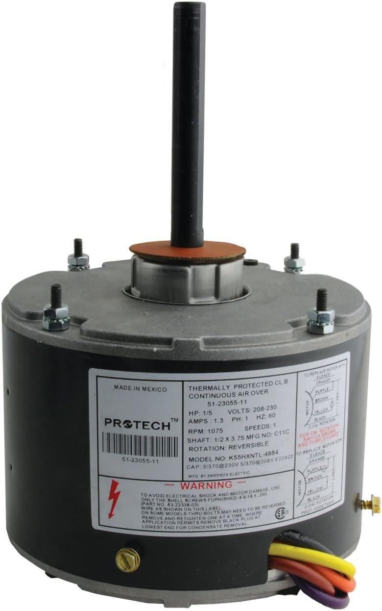 51-23055-11 - OEM Upgraded Rheem Condenser Fan Motor 1/5 HP 208-230 Volts  1075 RPM - - Amazon.comAmazon.com