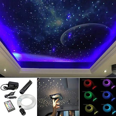 Amazon.com: Kit de luces de techo de fibra óptica con sensor ...