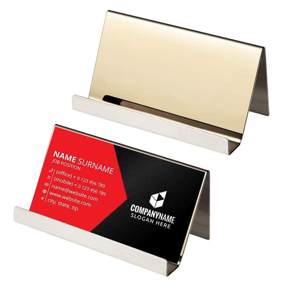 Amazon 2pcs Stainless Steel Business Card Holder Qiuye