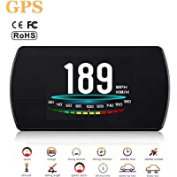 ACECAR Upgrade T800 Universal Car HUD Head Up Display Digital GPS Speedometer with Compass Driving Latitude and…