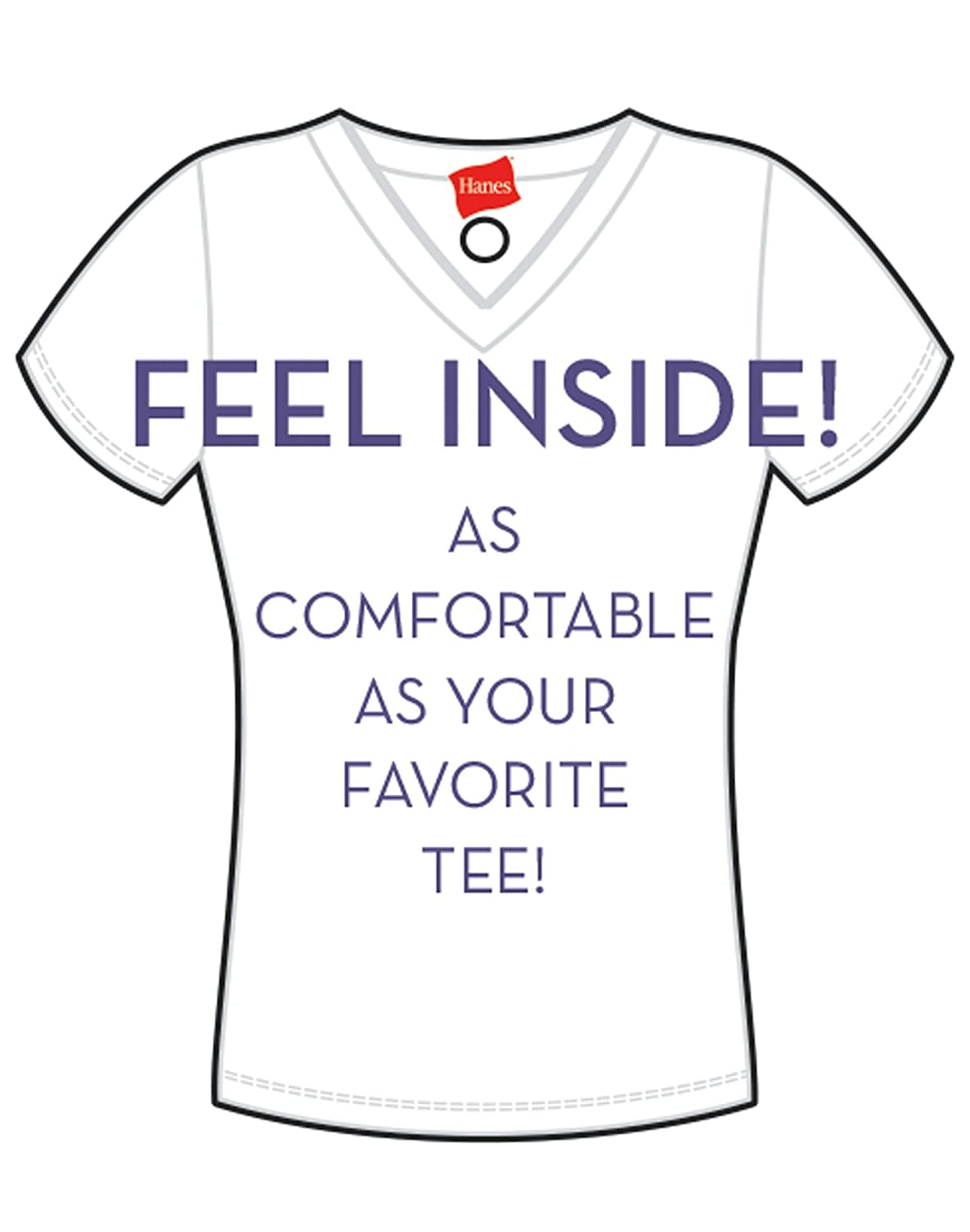Hanes Ultimate Womens T-Shirt Soft Foam Wirefree
