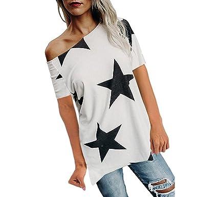 134691606417a Femme T-Shirt Grande Taille Col Rond Top Large Tunique Casual Haut Blouse  Motif d