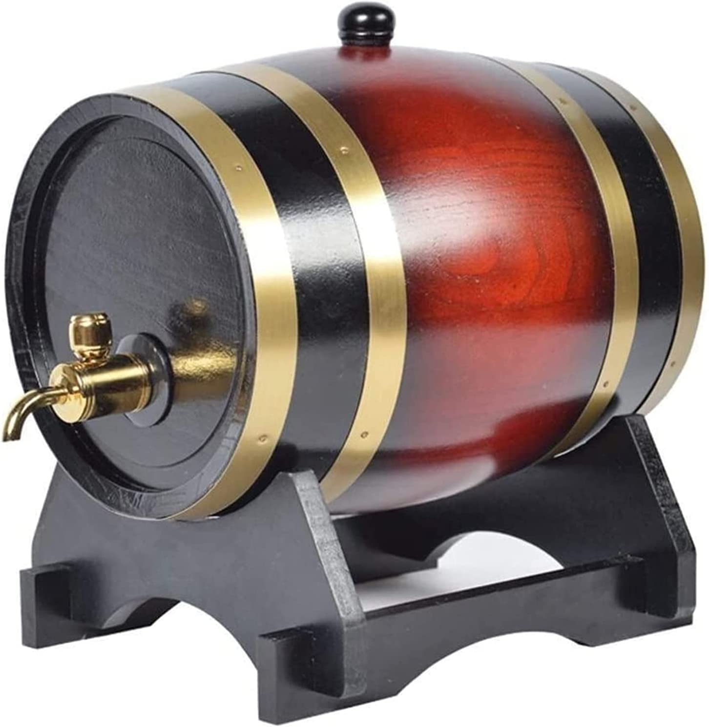 Whiskey Decanter Wine Decanter Oak Barrel, 20L Vintage Oak Aged Wine Storage Bucket with Faucet Water Dispenser Wine red,Wine Red Decanter (Size : 20l)