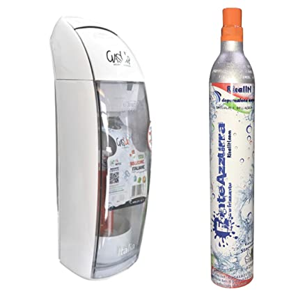 carbonatador Agua gas-up Italia + 1 bott. de 1lt + 1 bombona CO2
