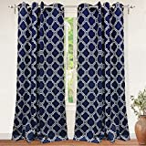 "DriftAway Drift Away Liam Blackout/Room Darkening Grommet Unlined Window Curtains, Set of Two Panels, each 52""x84"" (Navy Blue) Review"