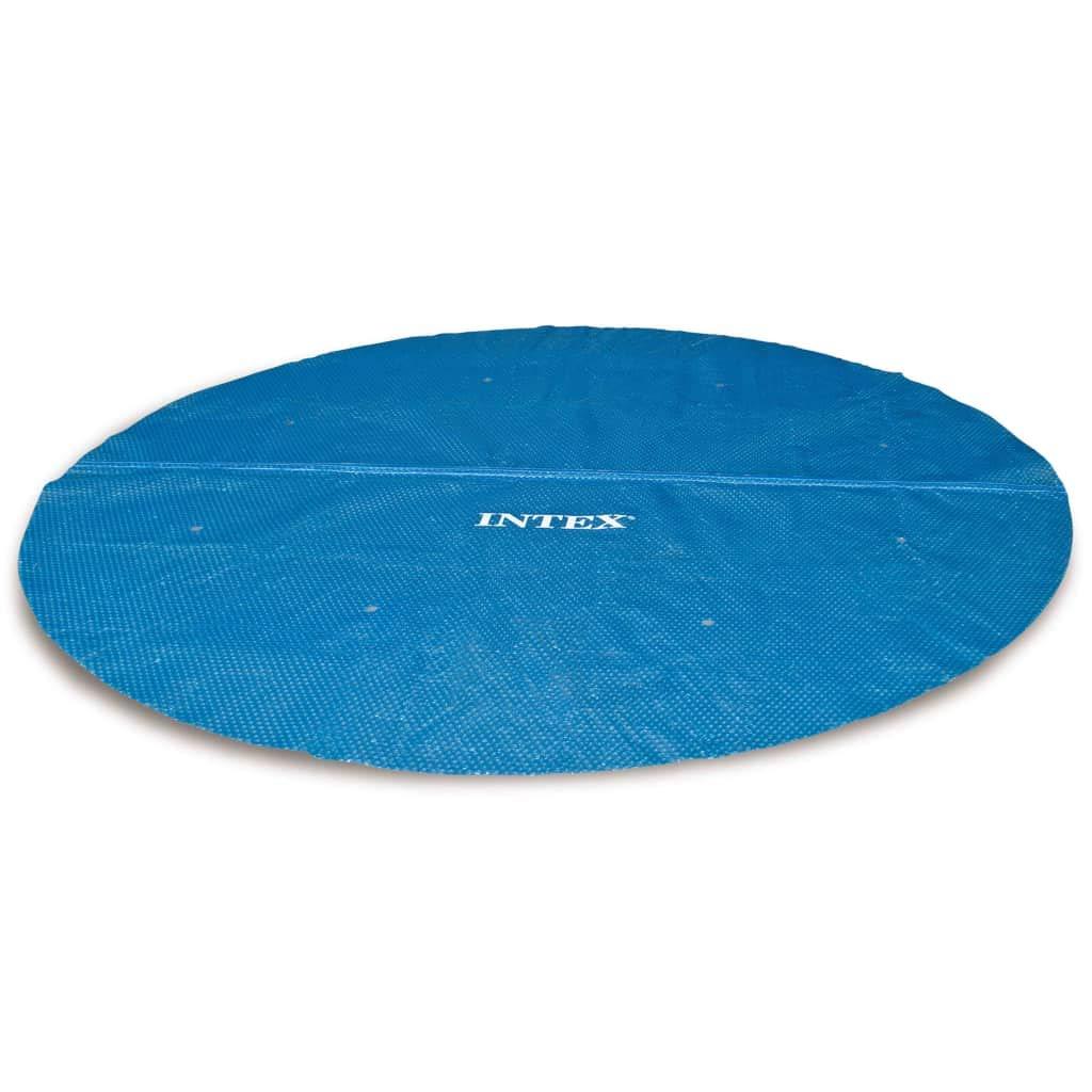 Festnight Couverture Solaire de Piscine Bâches pour Piscine Ronde 366 cm Bleu
