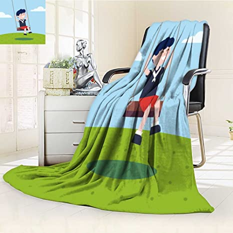 Review Leighhome DOLLAR Blanket,Boy swinging