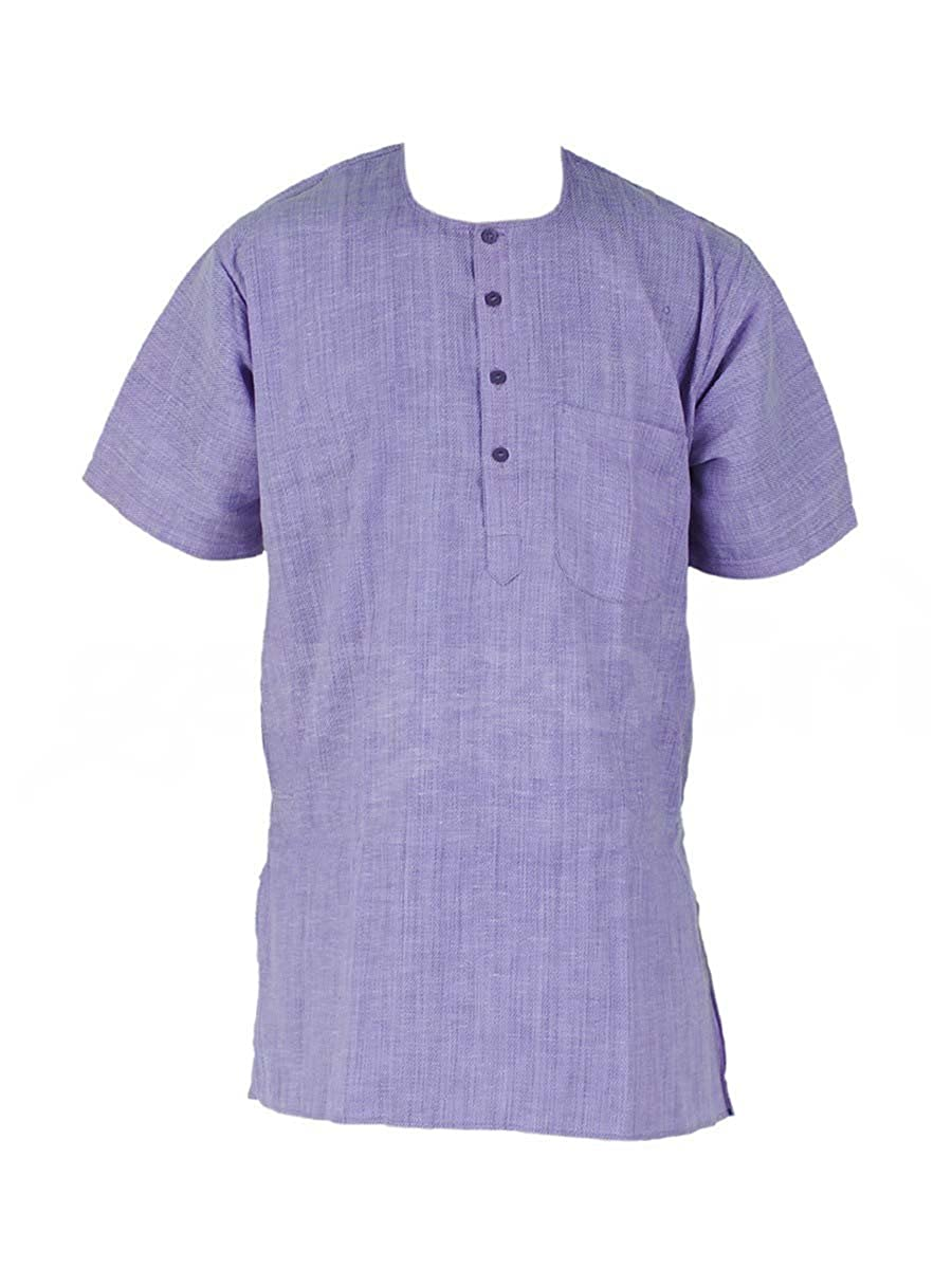 Men's Kurta Cotton Short Sleeves
