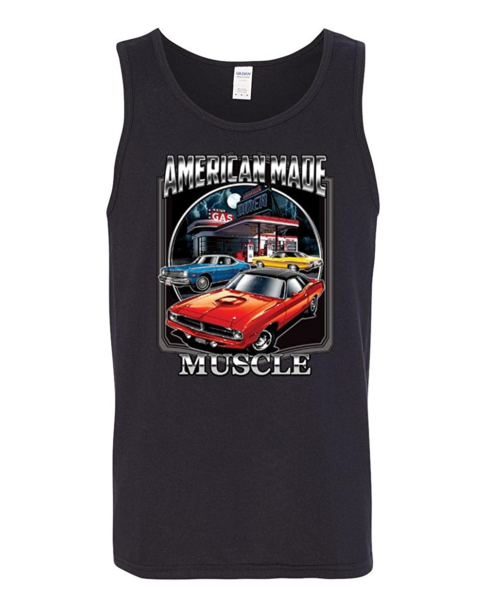 Wild Bobby American Made Muscle Mens Planes//Trains//Automobiles Fashion Graphic Tank Top