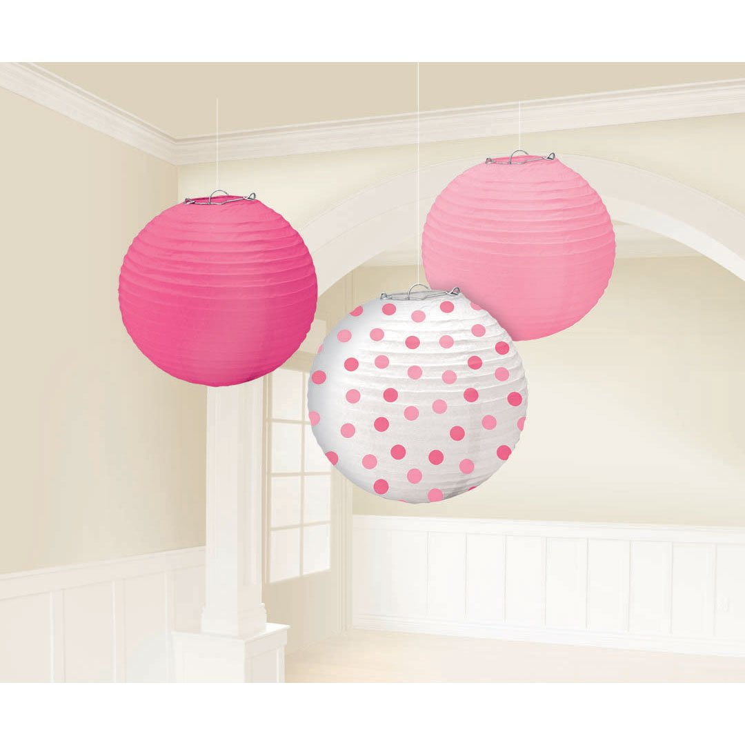 """Amazon.com: Amscan Baby Round Party Paper Lantern, 9-1/2"""", Blue ... for How To Make Round Tissue Paper Lanterns  117dqh"""