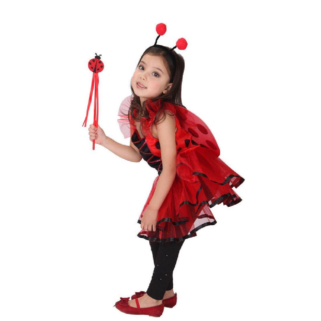 Kids Miraculous Ladybug Cosplay Costume Ladybug Romper Costume Cat Suit by Crystalbella Inflatable Cos