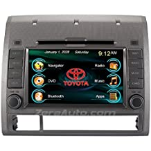 2005-2012 Toyota Tacoma In-Dash GPS Navigation Stereo DVD CD Player FM AM Radio 7 Inch Touchscreen Bluetooth AV Receiver USB SD iPod iPhone Install Ready Multimedia Deck OEM Replacement Head Unit