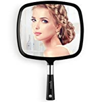 Easehold Hand Held Mirror, Wall Hanging Mirror Makeup Hair Dressing Mirror for Home Salon Use, Black