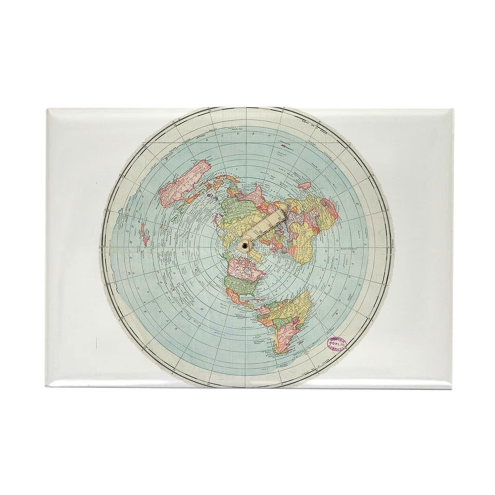 Flat Earth //Gleasons Map 1892 Magnets Rectangle Magnet CafePress 2x3 Refrigerator Magnet