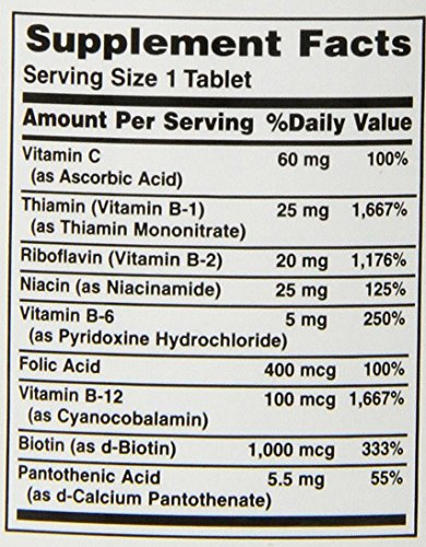 Nature's Bounty Super B Complex w/Folic Acid plus Vitamin C, 150 Count