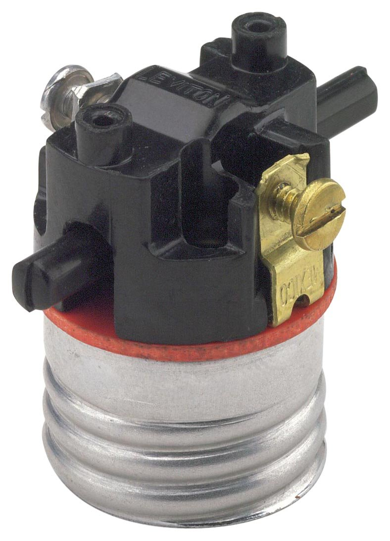 Lamp Socket Wiring A Leviton Holder 7080 M Medium Base Interior Only Shell Incandescent Lampholder Push Through