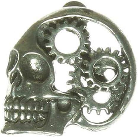 "#L45 Hat Pin 1/"" x 1/"" Biker Vest GEAR HEAD Pewter Vest"