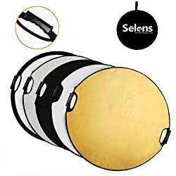 Selens 32 in (80cm) 5-in-1 Round Reflector with Handle for Photography Photo Studio Lighting & Outdoor Lighting