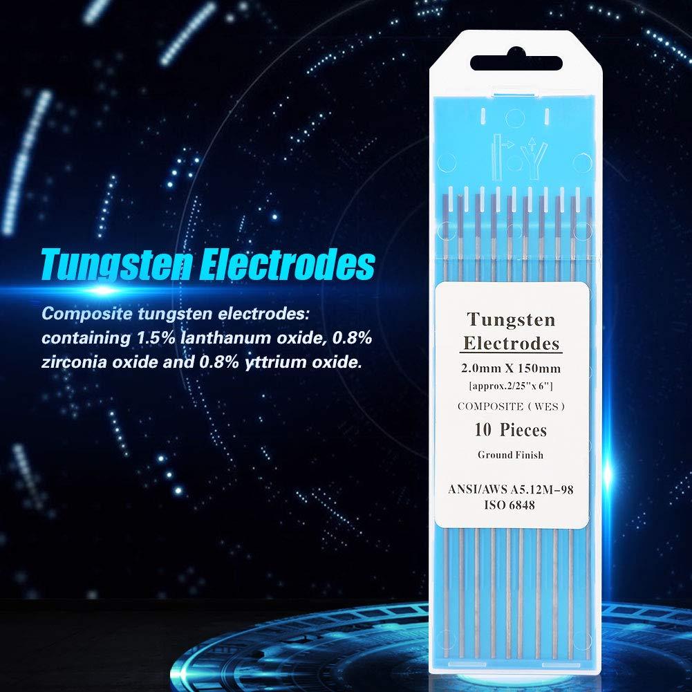 10 st/ücke Wig-Schwei/ßen von Verbund-Wolframelektroden 2,4 /× 150mm WIG Wolfram Elektroden WES Purple