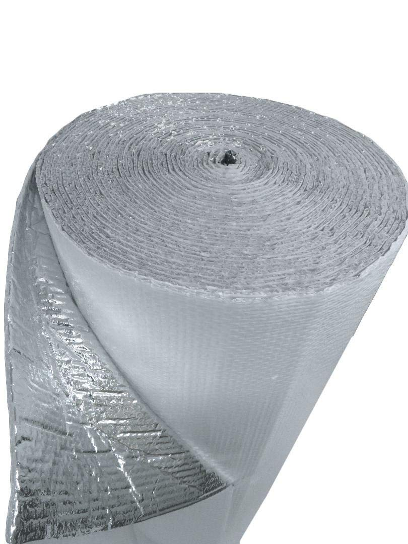 US Energy Products (4ft x 100ft) NASATECH White DOUBLE Bubble Aluminum Reflective Aluminum Insulation Roll Solid Metal Building Vapor Barrier - White Concrete Commercial Residential House Buildings by US Energy Products (Image #3)