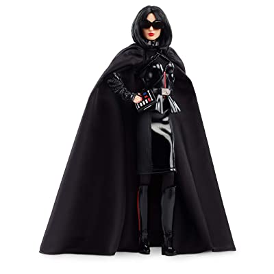 Barbie Collector: Star Wars Darth Vader X Barbie Doll, 11.5-Inch Wearing Black Peplum Top, Cape and Skirt, with Doll Stand and Certificate of Authenticity: Toys & Games