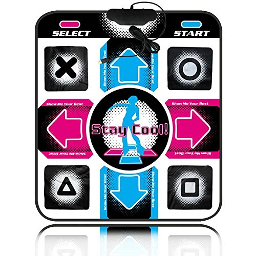 Puronic Non-slip Dance Mats Rhythm and Beat Game Dancing Step Pads USB Lose Weight Pads Dancer Blanket with USB Entertainment for PC Laptop (black, 1.1cm thick) (Xbox 360 Metal Dance Pad)