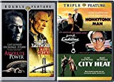 Clint True Crime Feature Eastwood Films Absolute Power Collection + Triple Feature Honkeytonk Man / Pink Cadillac / City Heat Movie Bundle pack