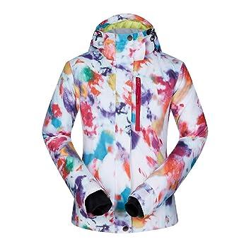 Zjsjacket Traje de esqui Chaqueta de snowboard para mujer impermeable a prueba de viento abrigos para
